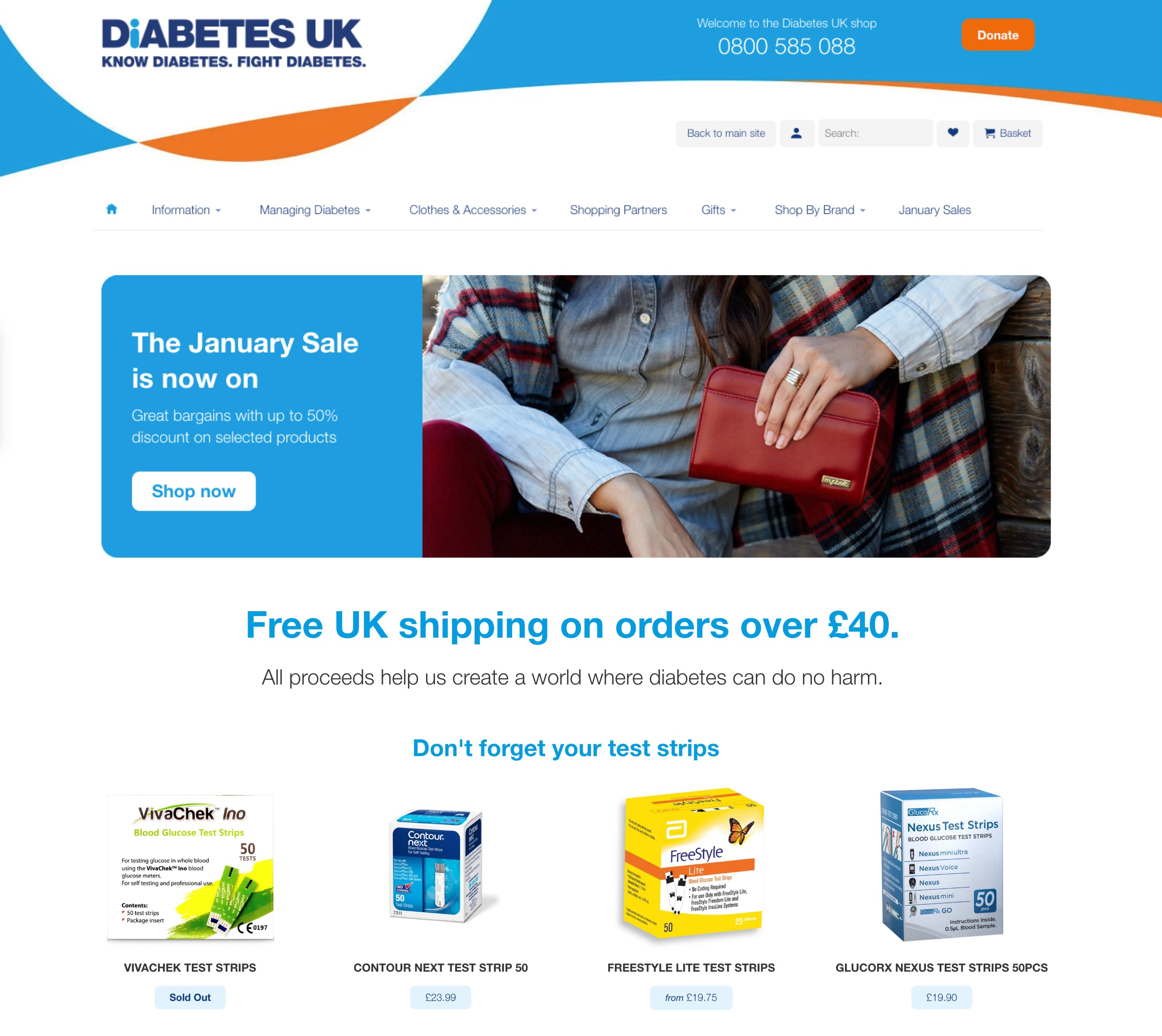 Diabetes UK homepage