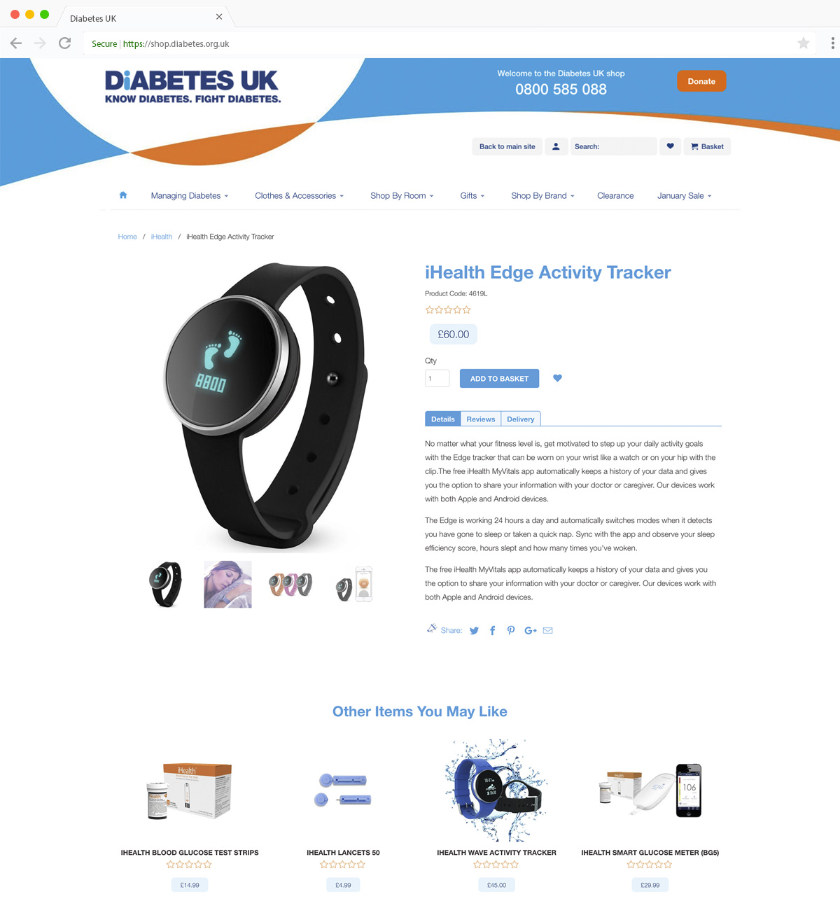 Diabetes UK Product
