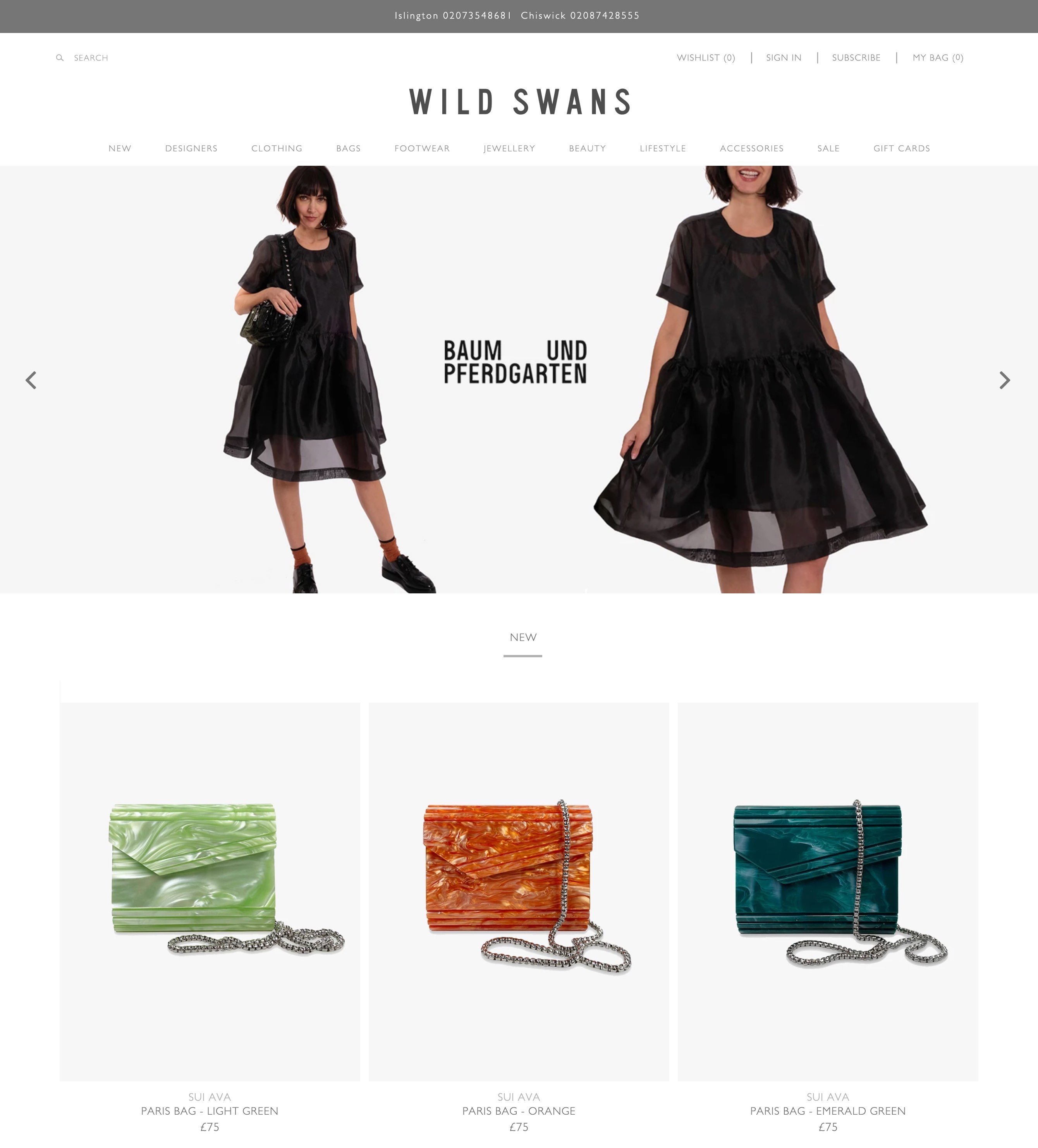 Wild Swans homepage