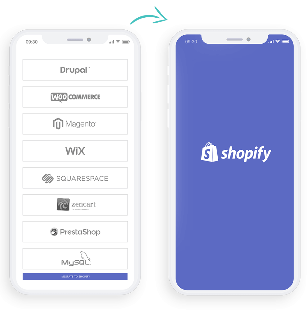 migrating to shopify