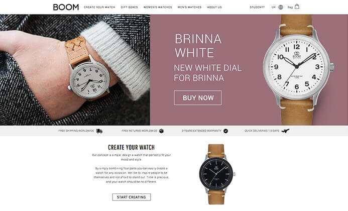 Boom watch brand inspiration