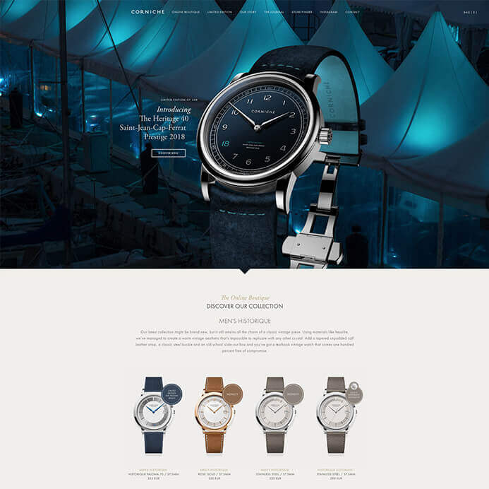 Corniche watch brand inspiration