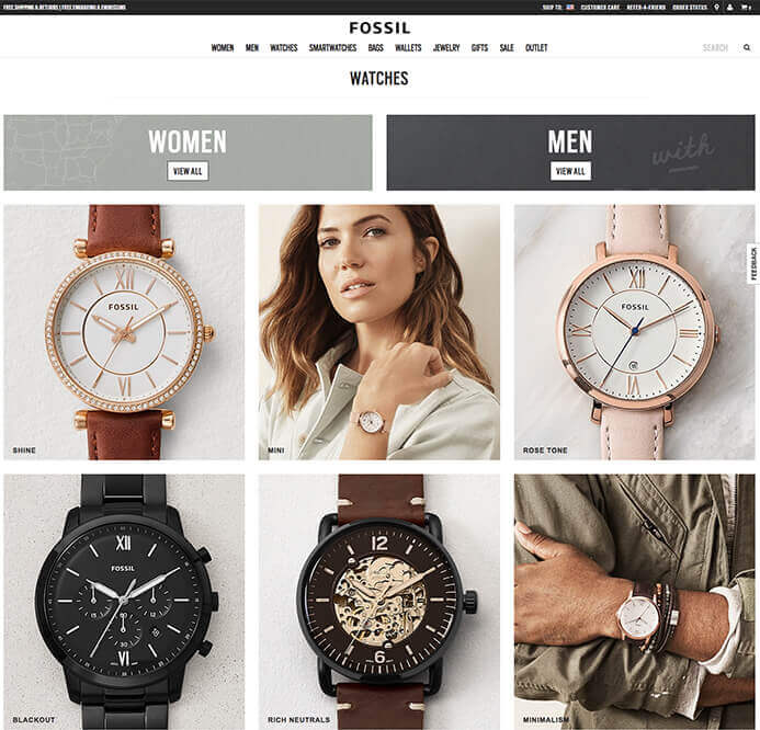 Fossil watch brand inspiration
