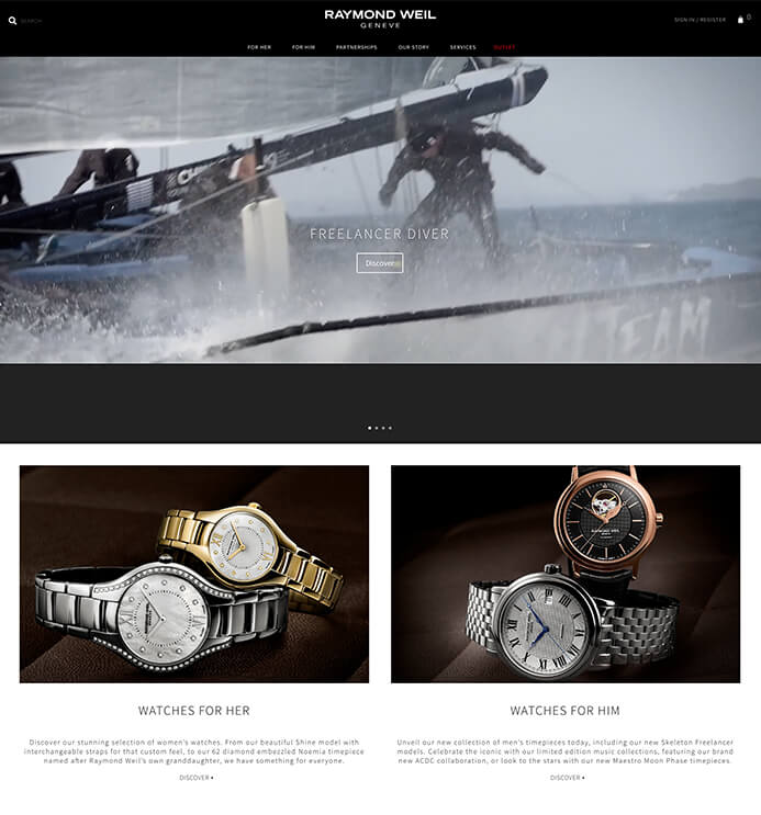 Raymond Weil watch brand inspiration