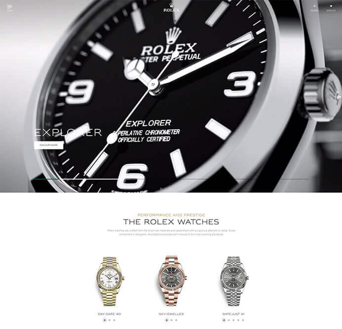 Rolex watch brand inspiration