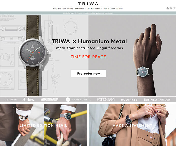 Triwa watch brand inspiration