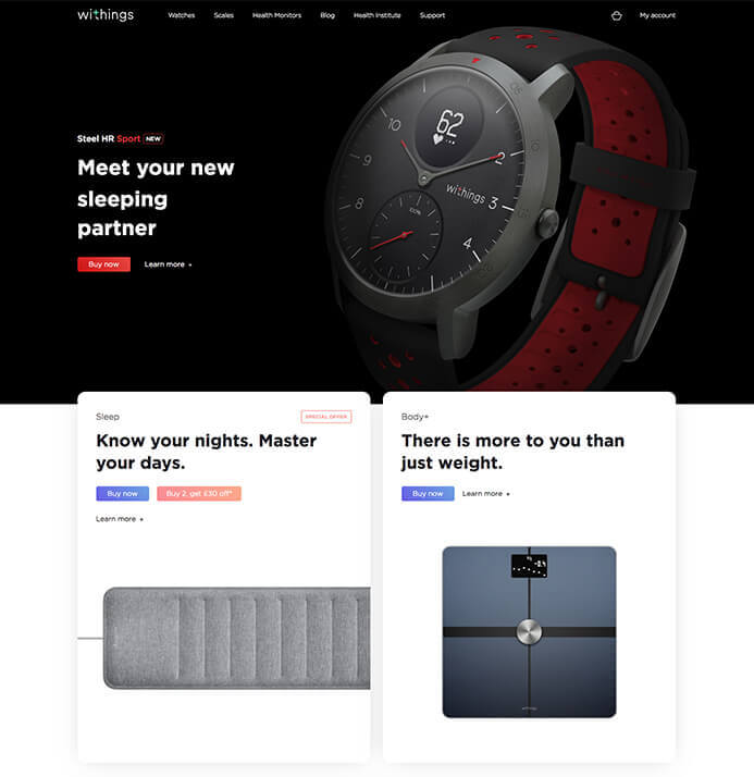 Withings watch brand inspiration