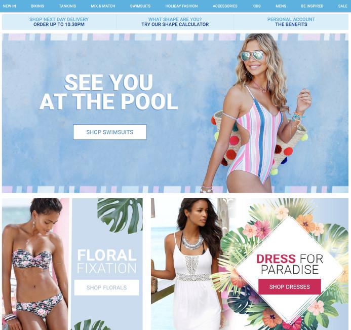 50 Inspirational Swimwear and Beachwear Ecommerce Websites