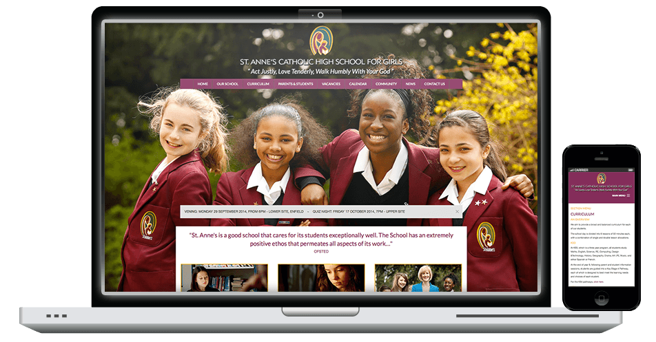 St Annes Responsive Website